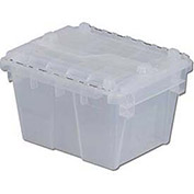 ORBIS Flipak Attached Lid Container, 11-13/16 x 9-13/16 x 7-11/16, Clear - Pkg Qty 6