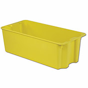 "LEWISBINS+ Plexton Stack-N-Nest Fiberglass Container - Wire-Reinforced Rim - 42.5x20.1x14.1""-Yellow"