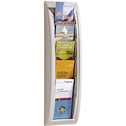 "PAPERFLOW Quick Fit Literature Racks - 9""Wx3-3/4""Dx25-3/5""H - Gray"