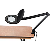 LED Magnifying Lamp With Covered Metal Arm, 5 Diopter, Black