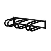 3 Bike Wall Mounted Bike Rack, Galvanized