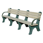 Park Classic 8 Ft. Backed Bench with Arms, Brown Bench/Brown Frame