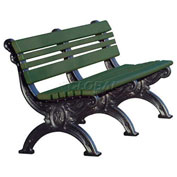 Cambridge 6 Ft. Backed Bench, Green Bench/Black Frame