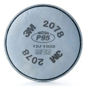 Particulate Filter, P95, with Nuisance Level Organic Vapor/Acid Gas Relief