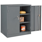 Asembled Counter Height Cabinet, 36x24x42, Gray