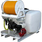 "Skid Sprayer 50 Gallon, 5-1/2 HP / K40 Pump, 150' of 3/8"" Hose, Manual Reel"
