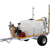 "2-Wheel Trailer Sprayer, 100 Gallon, 5 HP / 4101C Pump, 50' of 3/8"" Hose, 12' Boom"