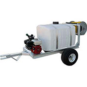 "2-Wheel Trailer Sprayer 50 Gallon, 5-1/2 HP / GE85 Pump, 150' of 3/8"" Hose, Manual Reel"
