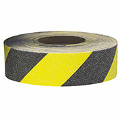 "Self-Adhesive Anti-Slip Floor Tape in Rolls - 2""Wx60'L Roll - Black/Yellow Stripes"