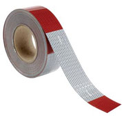 "INCOM Conspicuity Reflective Tape, 11"" Red/7"" White Pattern, 13 mil Vinyl, DOT-C2, 150'Lx2""W, 1 Roll"