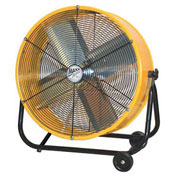 "MaxxAir™ 24"" Tilt Heavy Duty Roll-Around Tilt Portable Barrel Fan, 4000 CFM"