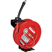 "Industrial Grade Retractable Reel, 3/8""x 25' Hose, 300 PSI"