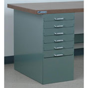"Stackbin 6 Drawer Pedestal, 15-1/2""W X 30""D X 30-1/4""H, Blue"