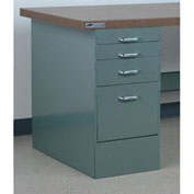 "Stackbin 4 Drawer Pedestal, 15-1/2""W X 30""D X 30-1/4""H, Blue"
