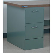 "Stackbin 2 Drawer Pedestal # 3, 15-1/2""W X 30""D X 30-1/4""H, Blue"