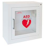 Steel AED Cabinet, Surface Mount, Audible Alarm