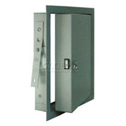 """Fire-Rated & Insulated Metal Access Panel, 8""""Wx8""""H, Gray"""