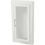 "Fire Extinguisher Cabinet, Full Acrylic Window, Semi-Recessed 5.5""D, Steel"