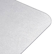 Textured Straight Edge Vinyl Chair Mat - 53x45""