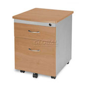 Mobile Box/File Pedestal, Maple