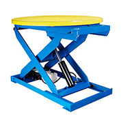 "Bishamon Lift Table, 43"" Dia. Turntable, 3000 Lb. Cap., Hand Control"