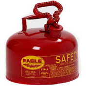 Eagle Ul-25S Type 1 Safety Can, 2.5 Gallon, Red