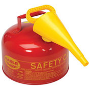 Eagle Ul-25-FS Type 1 Safety Can, 2.5 Gallon with Funnel, Red