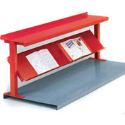 "2 Shelf Production Booster, 48""W X 24""H, Cherry Red"