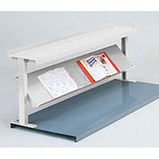 "2 Shelf Production Booster, 60""W X 24""H, Reflective White"