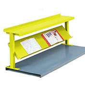 "2 Shelf Production Booster, 60""W X 24""H, Safety Yellow"