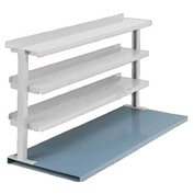 "3 Shelf Production Booster, 48""W X 36""H, Dove Gray"