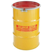 Skolnik 30 Gallon Open Head Carbon Steel Salvage Transport Overpack Drum, HM3001