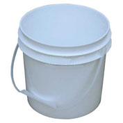 Vestil PAIL-1-PWP, 1 Gallon Open Head Plastic Pail with Plastic Handle - White