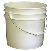 Vestil PAIL-35-PW, 3.5 Gallon Open Head Plastic PailS with Steel Handle - White