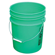 Vestil PAIL-54-PGS, 5 Gallon Open Head Plastic Pail with Steel Handle - Green