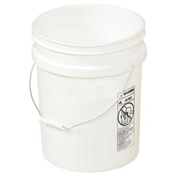 Vestil PAIL-54-PWS, 5 Gallon Open Head Plastic Pail with Steel Handle - White
