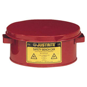 Justrite 10375 Bench Can, 1-Gallon, Red
