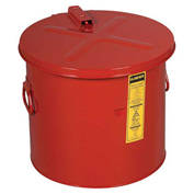Justrite 27608 Dip Tank, 8-Gallon, Red