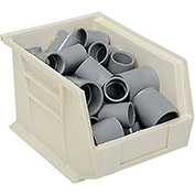 Plastic Stacking Bin 8-1/4x10-3/4x7, White - Pkg Qty 6