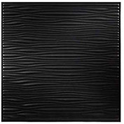 Genesis Designer Drifts PVC Ceiling Tile, Waterproof & Washable, 2'L X 2'W, Satin Black
