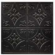 Genesis Designer Antique PVC Ceiling Tile, Waterproof & Washable, 2'L X 2'W, Satin Black
