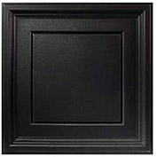 Genesis Designer Icon Coffer PVC Ceiling Tile, Waterproof & Washable, 2'L X 2'W, Satin Black