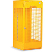 """RELIUS SOLUTIONS Upright Cylinder Cabinet - 30x32x65"""" - 5-10 Cylinders - Aluminum - Set Up"""