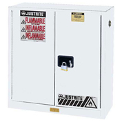 "30 Gallon 2 Door, Manual, Flammable Cabinet, 36""W x 24""D x 35""H, White"