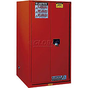 "Paint & Ink Cabinet, 96 Gallon, 2 Door, Self-Close, 34""W x 34""D x 65""H, Red"