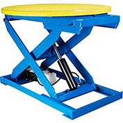 "Bishamon Lift Table, 43"" Dia., Turntable 3000 Lb. Cap., Foot Control"