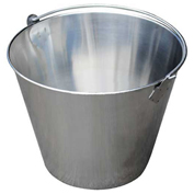 Vestil BKT-SS-325, Stainless Steel Bucket 3-1/4 Gallon Capacity