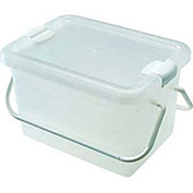 "Container Basket With Handle, 8-5/16""X11-1/2""X6-13/16"", Clear - Pkg Qty 8"