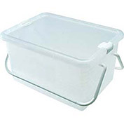 "Container Basket With Handle / 12-1/2""x17-5/16""x9 / Clear - Pkg Qty 6"