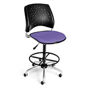 Stars Fabric Swivel Stool with Drafting Kit, Lavender